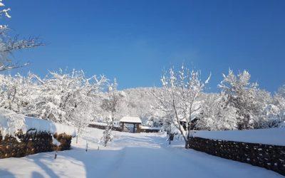 Iarna copilăriei înSatul de pe deal!