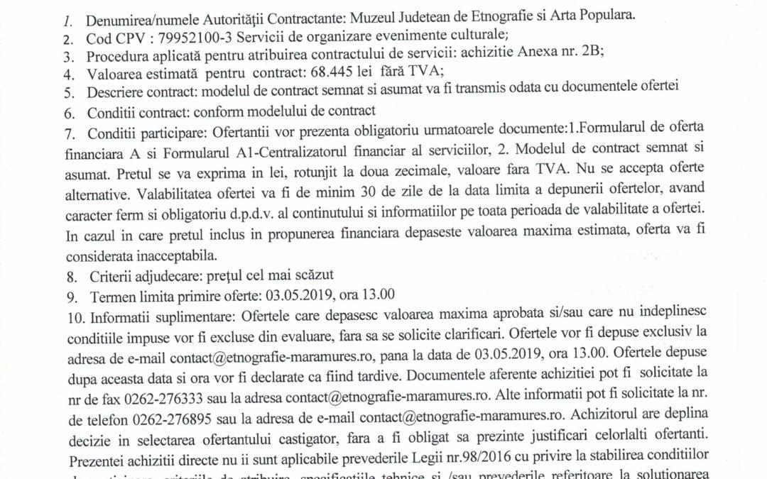 """Anunț de publicitate pentru evenimentul """"Zilele Maramureșului- Haida, hai în Maramureș"""", ediția a V-a 17-19 mai 2019"""