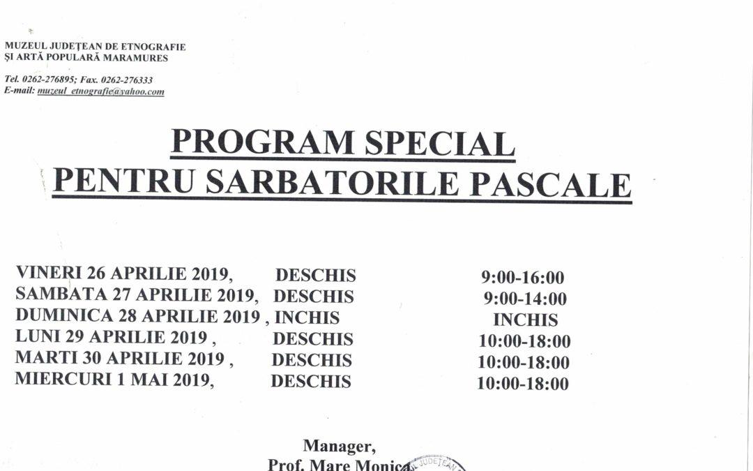 Program special pentru Sărbătorile Pascale