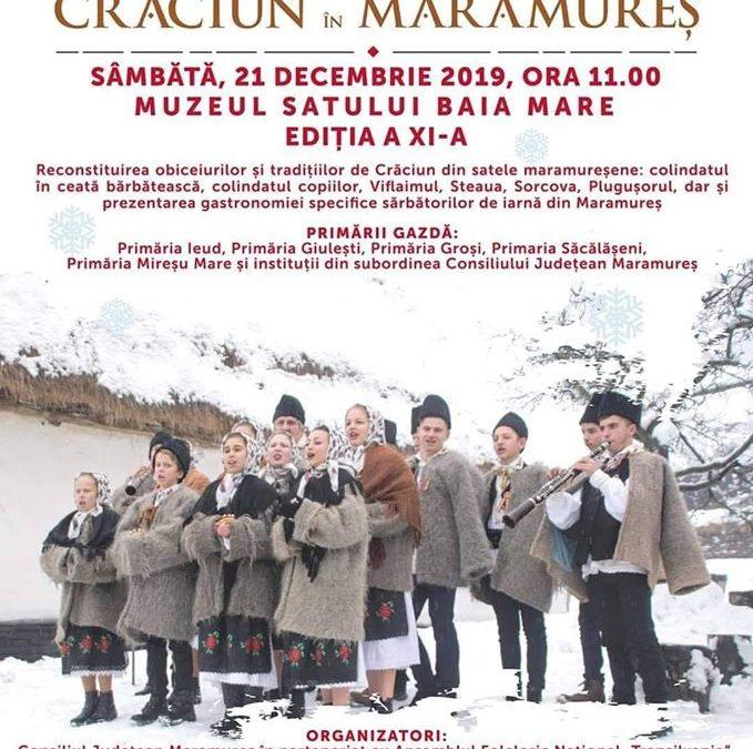 Crăciun în Maramureș, sâmbătă, 21 decembrie!